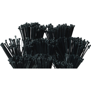ISL 1000pc Cable Tie Assorted Pack - UV Black