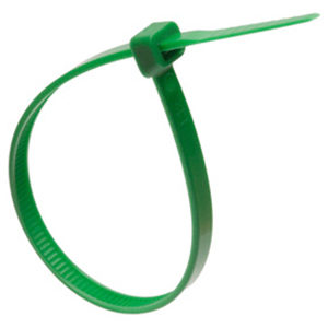 ISL 300 x 4.8mm Nylon Cable Tie - Green - 100pc