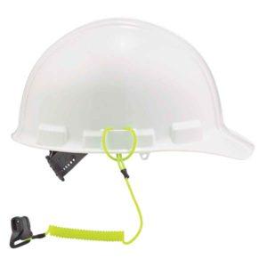 Ergodyne Coil Hard Hat Lanyard w/Clamp 0.9kg