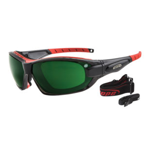 GENISYS PLUS BLACK IR SHADE 5 SAFETY GLASSES