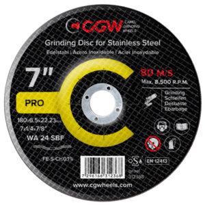 180 X 6.5 X 22.23 WA24 SBF GRINDING DISC INOX CGW