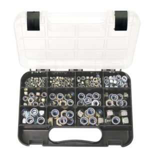 GJ Grab Kit 195pc Self-Lock Nuts Metric