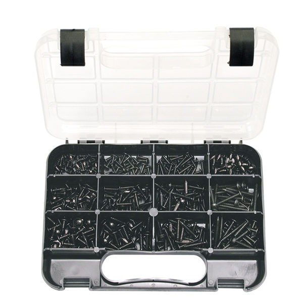 GJ Grab Kit 370pc Self-Tap Mushroom Head Screws