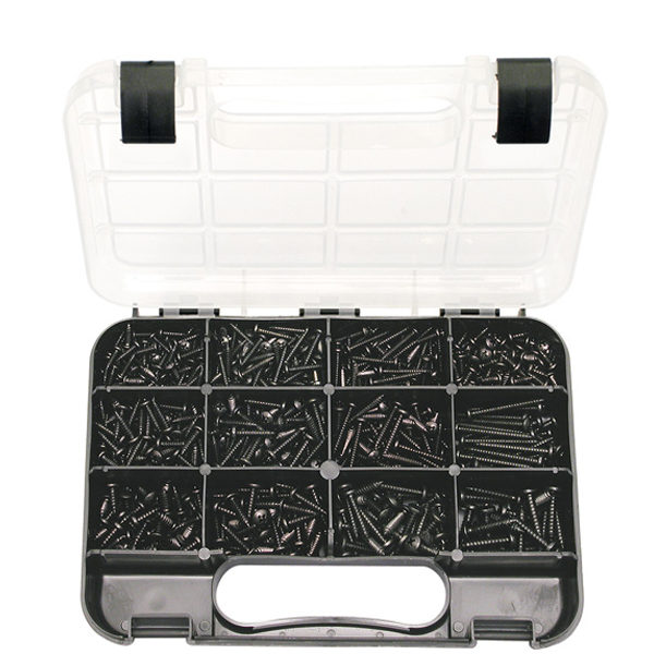 GJ Grab Kit 710pc Self-Tapping Pan Head Black