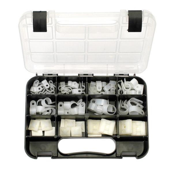 GJ Grab Kit 80pc Nylon Cable Clamps