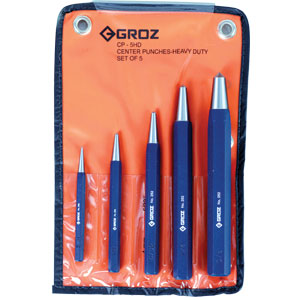Groz 5pc H/Duty Centre Punch Set (2mm To 10mm)