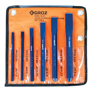 Groz 6pc Cold Chisel Set