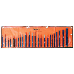 Groz 24pc Punch And Chisel Set