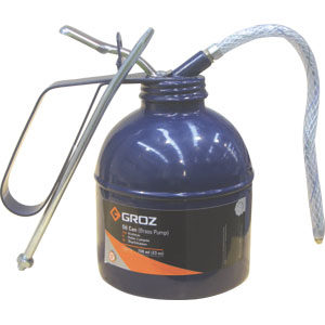 Groz 500ml/16oz Oil Can w/Flex & Rigid Spout