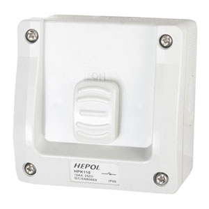 10A Weatherproof 1 Gang Surface Switch IP66**