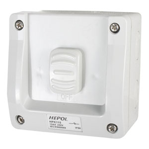 15A Weatherproof 1 Gang Surface Switch IP66**