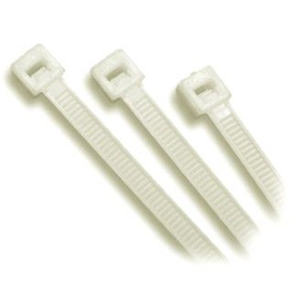 250 X 4.8MM NYLON CABLE TIE-NATURAL-100PK**