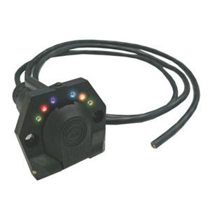 KT PRE-WIRED LED 7-PIN ROUND TRAILER SOCKET (SML)**