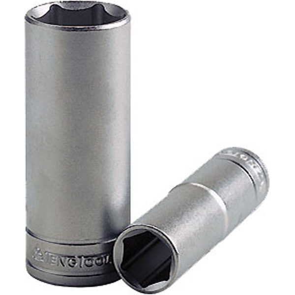 Teng 1/2in Dr. Deep Socket 19mm 6Pnt