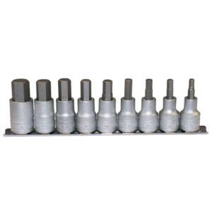 Teng 9pc 1/2in Dr. Hex Socket Set 5-17mm