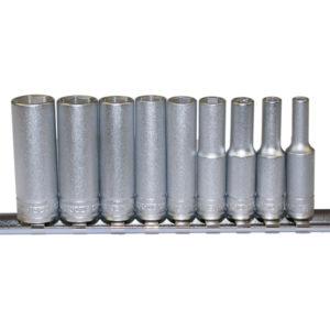 Teng 9pc 1/4in Dr. Metric Deep Socket Set 4-13mm 6Pnt