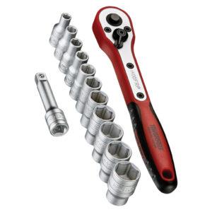 Teng 13pc 1/4in Dr. mm Socket Set w/Case 4-13mm
