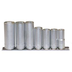 Teng 7pc 3/8in Dr. Deep mm Socket Set 10-19mm