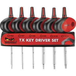 Teng 6pc MegaDrive Mini TX T-Handle S/Driver Set w/Holder