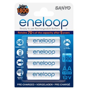 Eneloop 1900Mah 1.2V Rechargeable AA Battery - 4pc