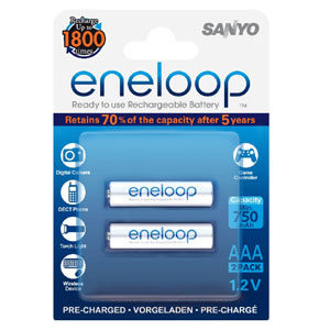 Eneloop 750Mah 1.2V Rechargeable AAA Battery - 2pc