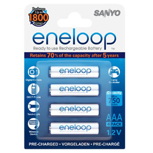 Eneloop 750Mah 1.2V Rechargeable AAA Battery - 4pc
