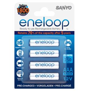 Eneloop 750Mah 1.2V Rechargeable AAA Battery - 4pc