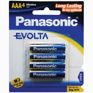 Panasonic AAA Battery Evolta Alkaline - 4pc
