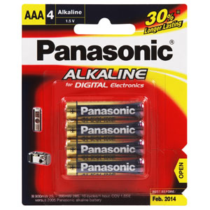 Panasonic AAA Battery Alkaline - 4pc