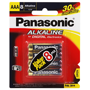 Panasonic AAA Battery Alkaline - 8pc