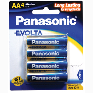 Panasonic AA Battery Evolta Alkaline - 4pc