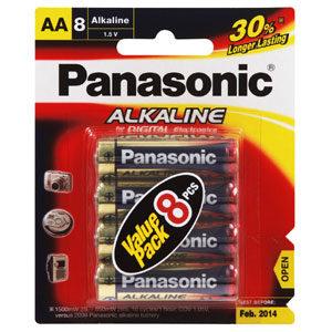Panasonic AA Battery Alkaline - 8pc