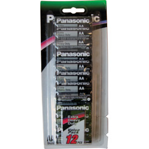 Panasonic AA Battery Extra H/Duty - 12pc