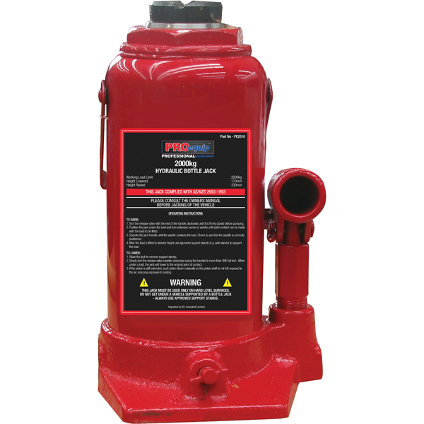 ProEquip 2000kg Standard Bottle Jack (AS/NZS)