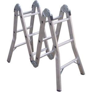 ProEquip 3.7M Multifold Aluminium Ladder 120kg Cap.