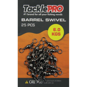 TacklePro Barrel Swivel 6.0kg - 25pc