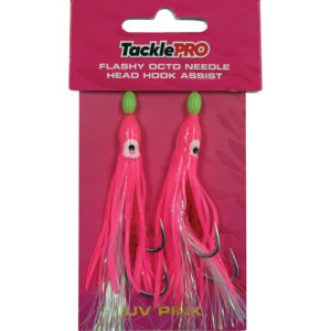 TacklePRO Flashy Octopus Assist Hook - UV Pink-2pc