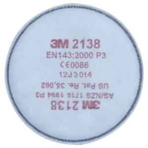 3M2138 FILTERS P3 DUST MIST FUME NUISANCE ACID