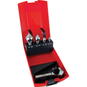 Unikut 5Pc HSS Crosshole 90Deg. Countersink Set