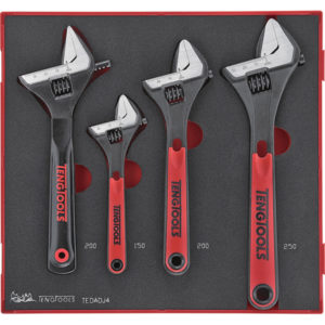 Teng 4pc Adjustable Wrench Set - TTD-Tray