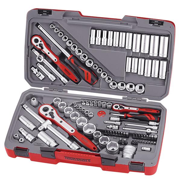 Teng 111pc 1/4in-3/8in-1/2in Dr. MM/AF Socket Set