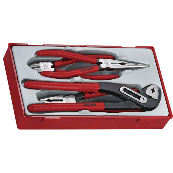 4PC MEGA BITE VINYL GRIP PLIER SET