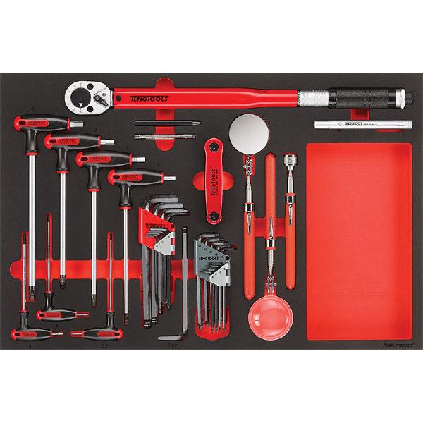 Teng 17pc Torque Wrench Hex/TX & insp Tool Set (EVA)