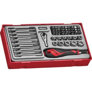 Teng 49pc MD Bits & Socket Set - TC-Tray