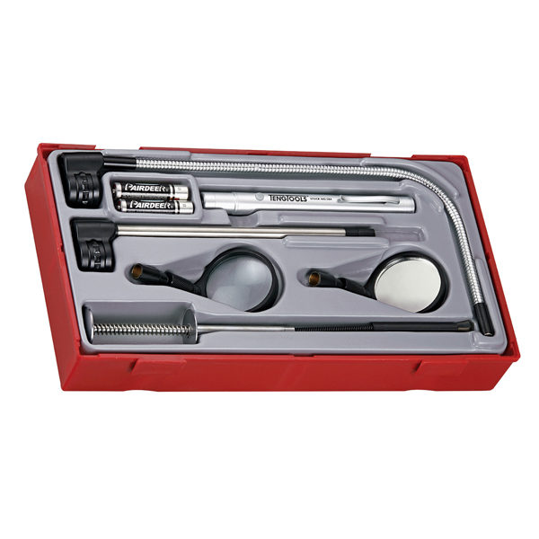 8PC PICK-UP INSPECTION TOOL SET W/L.E.D. TORCH