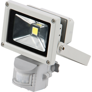 QESTA LED 240V FLOODLIGHT W/SENSOR - 10W (NO PLUG)