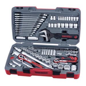 Teng 127pc 1/4in-3/8in-1/2in Dr. Metric Socket & Tool Set